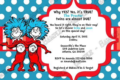 Dr Seuss Thing 1 And Thing 2 Baby Shower by Novel Concept Designs Dr Seuss Thing 1 And Thing 2
