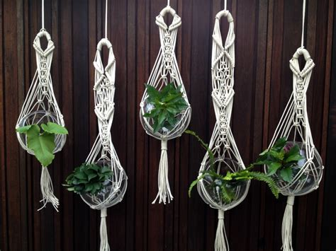 Macrame Hangers For Plants - project gallery the knot studio