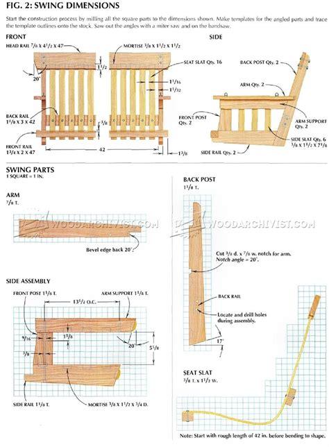 porch building plans diy porch swing woodarchivist