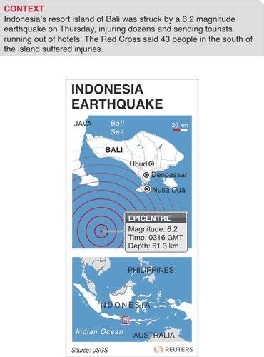 earthquake ubud bali quake shakes indonesia s bali asia pacific chinadaily com cn