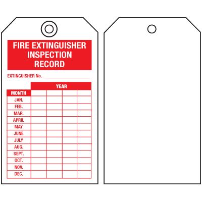 extinguisher inspection tag template extinguisher tags inspection record single sided