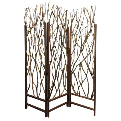 tree 6 ft brown 3 panel room divider sg 231 the home depot