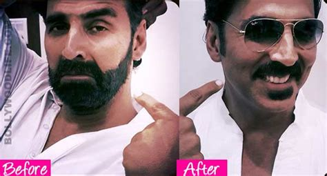 unshaven look out of style akshay kumar out of his gabbar look view pic