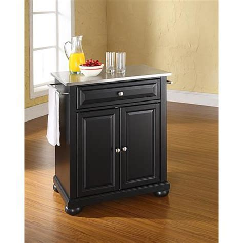 kitchen island with stainless steel top stainless steel top portable kitchen island 10069282 hsn