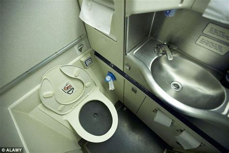 how to use bathroom in flight the dirtiest areas of an aeroplane revealed daily mail