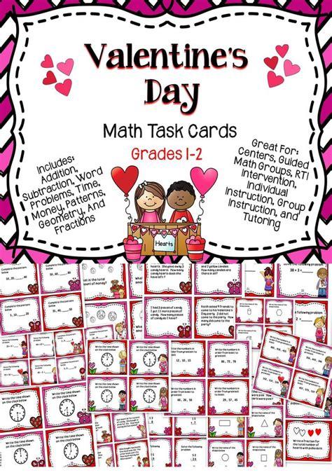math valentines day cards s day math task cards math math task cards