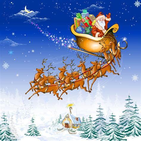 Santa Claus And Reindeer Clipart – 101 Clip Art Free Clip Art Santa And Reindeer