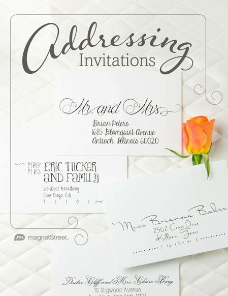Wedding Invitation Card Addressing by Addressing Wedding Invitations Magnetstreet Weddings