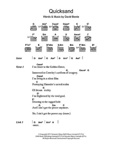 lyrics bowie sheet by david bowie lyrics chords