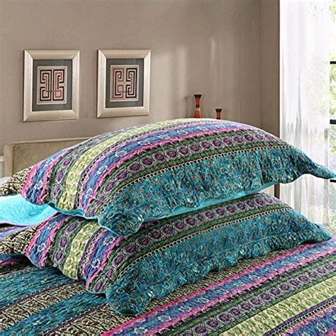Cotton Quilt Sets Sale Newlake Striped Jacquard Style Cotton 3 Patchwork
