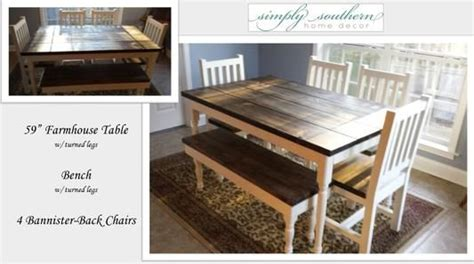 simply southern home decor farm table bench handmade chairs simply southern home