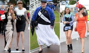 ladies day at york racecourse sees big hats take centre