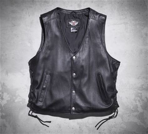 Jaket Vest Rompi Harley Davidson 02 s pathway leather vest leather official harley