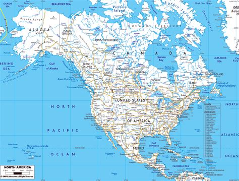 detailed america map maps of america and american countries