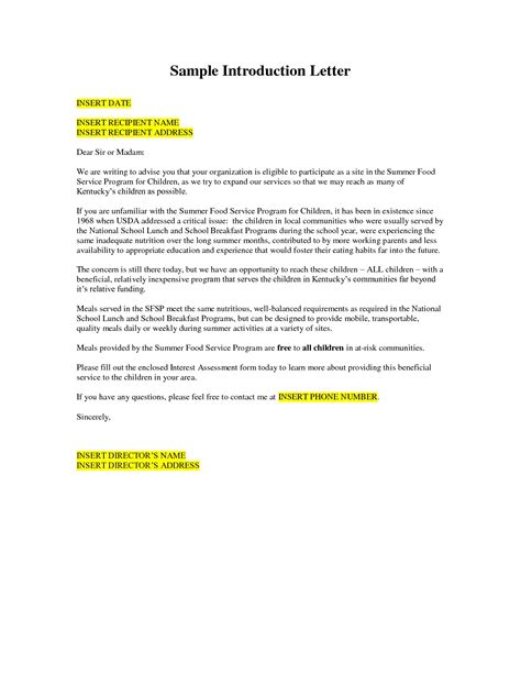 Business Letter Of Introduction Uk formal letter format copy business introduction