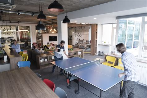 to play at an office let them play foosball creative office space