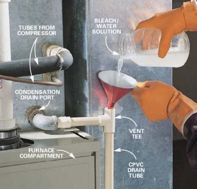 clean drain with bleach how to clean your air conditioning drain gilbertconstruct