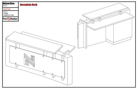 Woodwork Reception Desk Plans Pdf Plans Reception Desk Plan