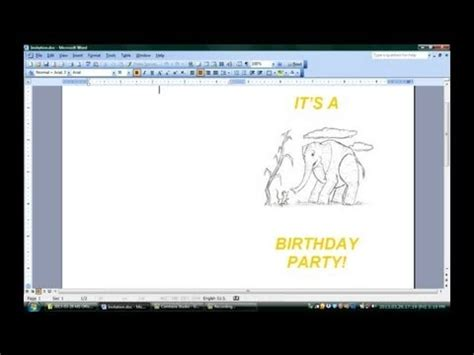 how to make birthday cards on microsoft word how to make folded invitations with microsoft word