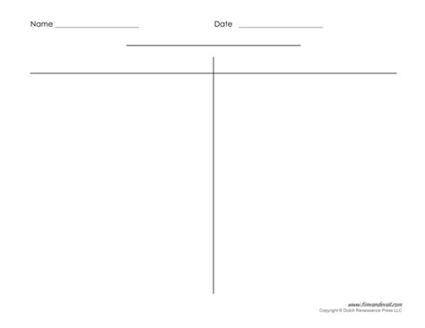 blank t chart templates printable compare and contrast