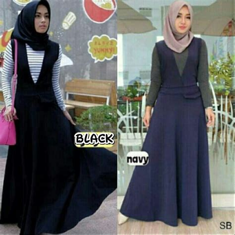 Busana Overal Wanita busana muslim murah riri overall grosir baju muslim