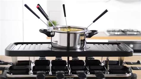 Raclette Grill Mit Fondue by Vonshef Raclette Grill With Fondue