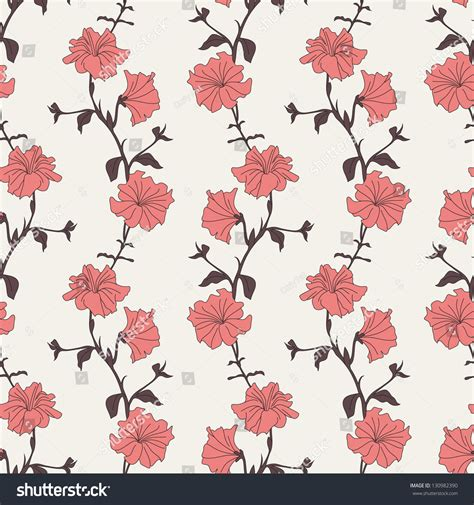 a seamless repeating retro floral flower seamless pattern repeating background with