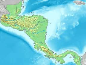 Central America Map Physical by Central America Physical Map 2007