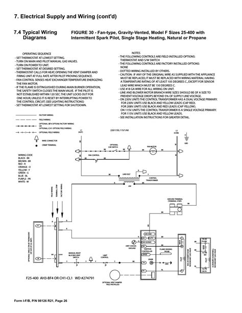 reznor wiring diagram reznor heater parts diagram