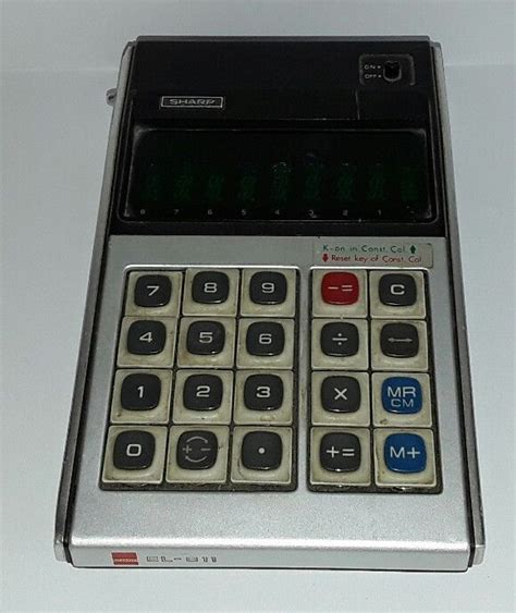 Ac Sharp 1 2 Pk Au A5sey vintage sharp el 811 calculator for parts or repair sharp s day