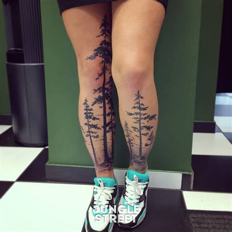 forest tattoo stunning boreal forest great idea tattoos