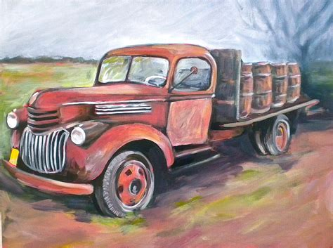 truck painting wine truck painting by paula strother