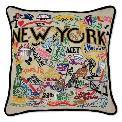 City Pillow by Embroidered City Pillows Embroidered City
