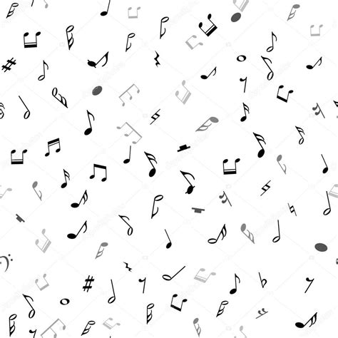imagenes sin fondo balnco abstract musical seamless pattern with black notes on
