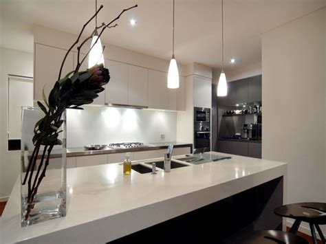 australian kitchen ideas decorative lighting in a kitchen design from an australian home kitchen photo 395848