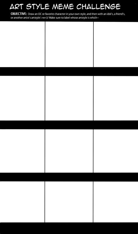 Blank Meme Template - blank art style meme challenge template by marchedemorce