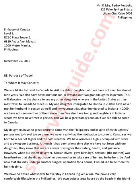 Explanation Letter Canada Visa Invitation Letter Futureclim Info