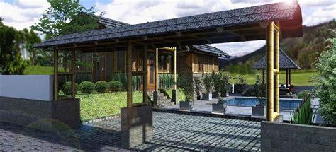 gambar desain rumah bambu modern nan unik rumah minimalis 2015