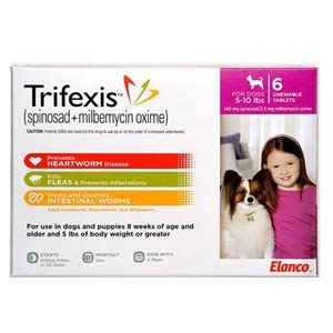 trifexis for dogs trifexis for dogs 5 10 lbs 6 chewable tablets pink vetdepot