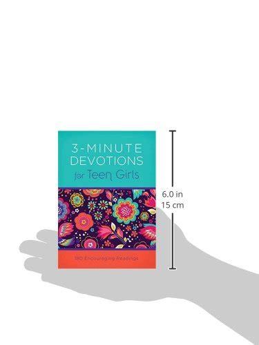 libro 3 minute devotions for boys 3 minute devotions for teen girls 180 encouraging readings books good shoppr