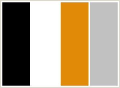 color combination with black color palette black gray grey orange silver tahiti