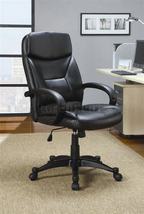 black vinyl modern office executive chair with adjustable