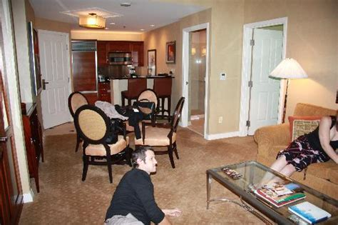 one bedroom balcony suite mgm one bedroom suite with view of kitchen picture of