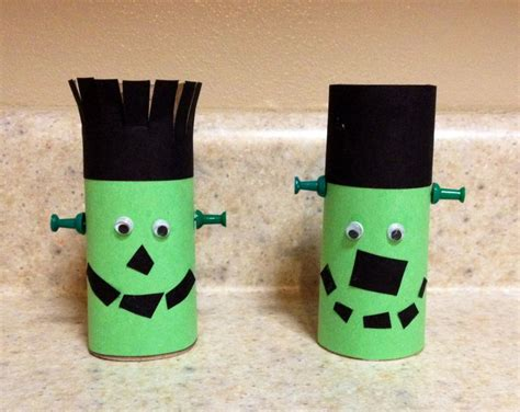 Preschool Toilet Paper Roll Crafts - preschool craft toilet paper roll frankenstein
