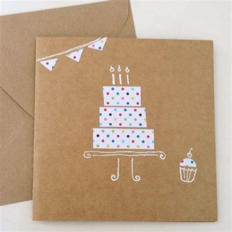 Modern Handmade Cards - modern happy birthday cards search cards