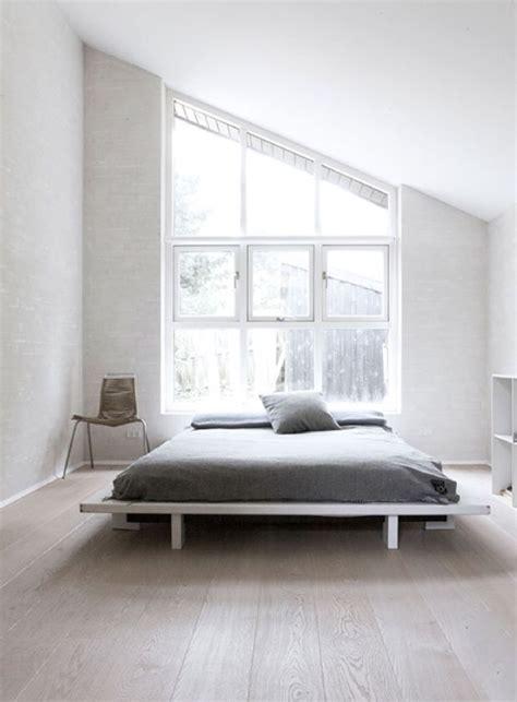 minimal bed minimal master bedroom big windows