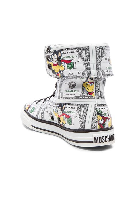 High By Moschino by Moschino Mighty Mouse Calfskin High Tops In Green Lyst