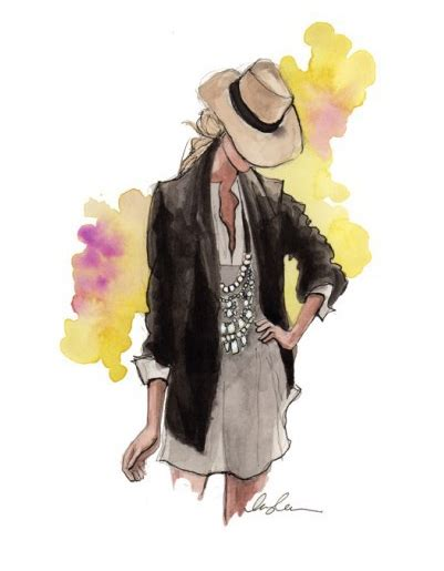 fashion illustration painting fashion sketches on