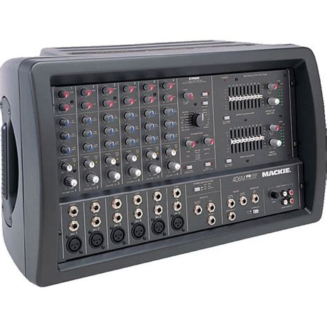 mackie 406m 6 channel powered mixer 406m b h photo