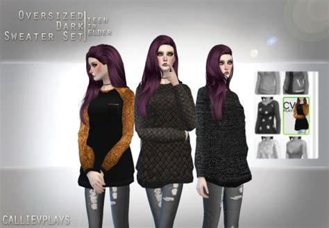 oversized sweater sims 4 cc oversized dark toned sweaters at calliev plays 187 sims 4